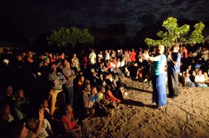Preaching in dim light and dirt