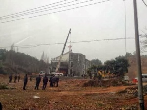 forced removal of cross in Huyang hangzhou 3.3.14 China AId